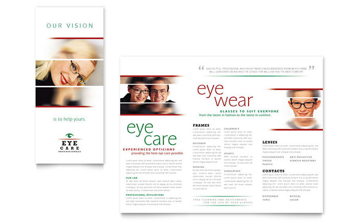 Optometrist Amp Optician Brochure Template Design