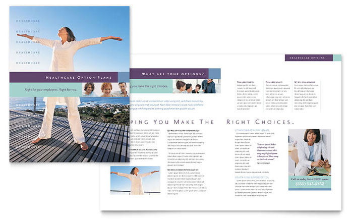 Medical insurance company brochure template design for Insurance brochure template