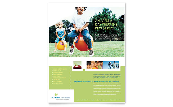 health fair flyer template Success