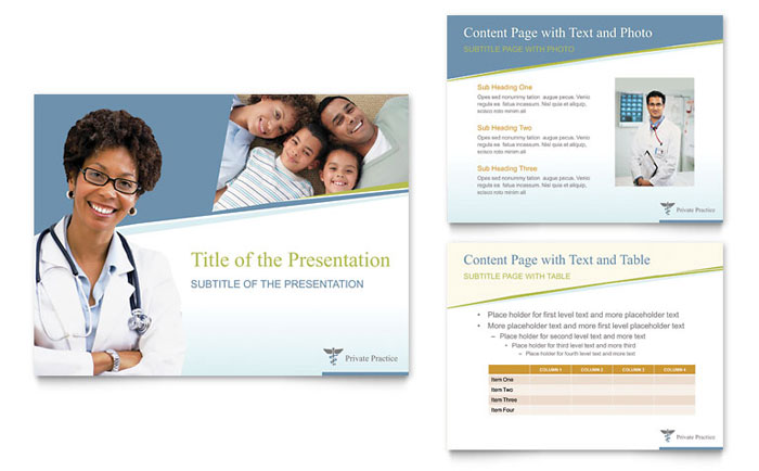 family physician powerpoint presentation template design