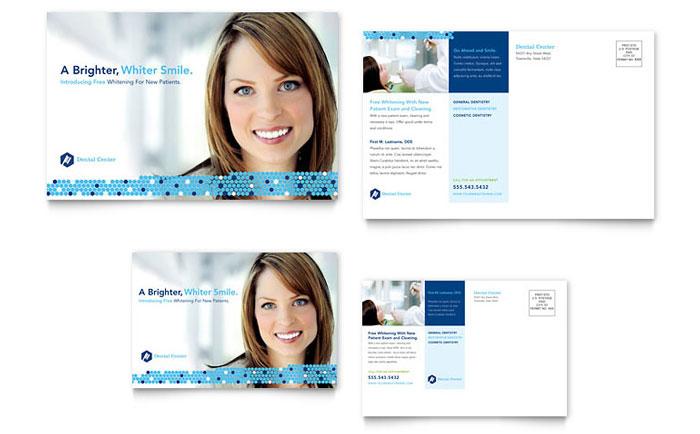 dentistry  u0026 dental office postcard template design