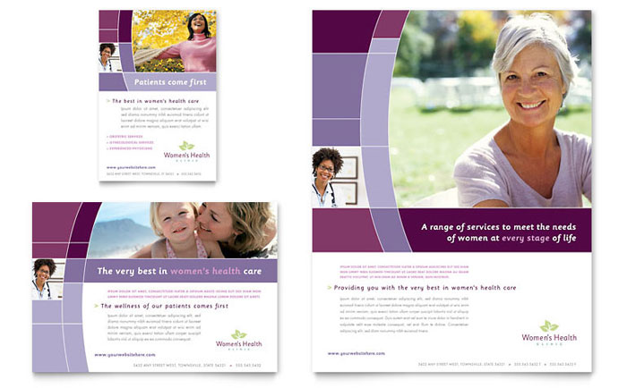 Womens Health Clinic Brochure Template Design – Health Brochure Template
