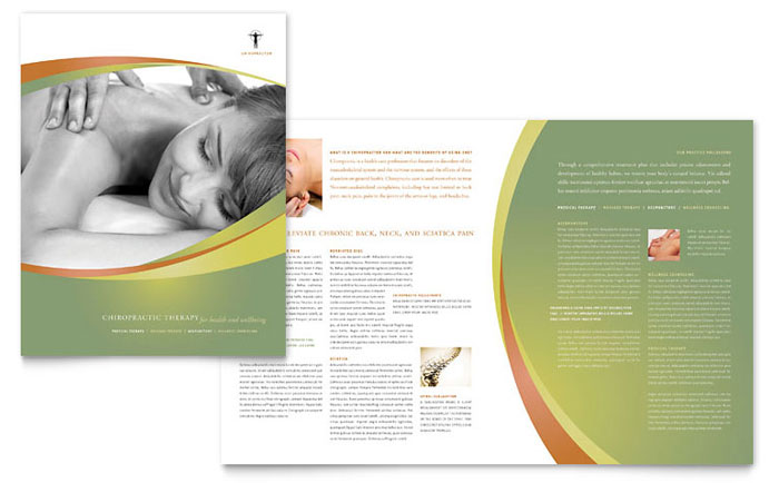 massage brochure template massage chiropractic brochure template design