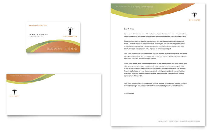 Chiropractor & Massage Therapist   Letterhead Templates   Medical ...