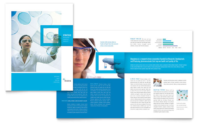 Science Chemistry Tri Fold Brochure Template Design – Brochure Templates for Word Free