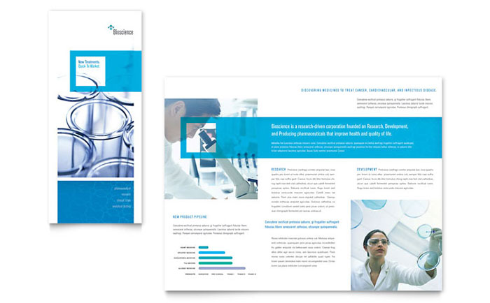 Science & Chemistry Tri Fold Brochure Template Design