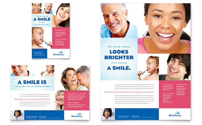 Dentistry & Dental Office Flyer & Ad Template Design