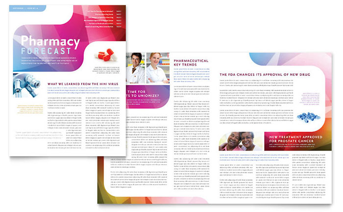 Pharmacy School Newsletter Template Design – Templates for a Newsletter
