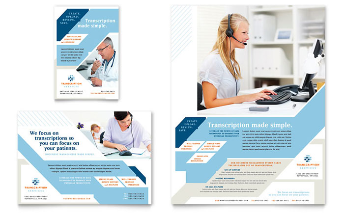 Medical Transcription Flyer Design