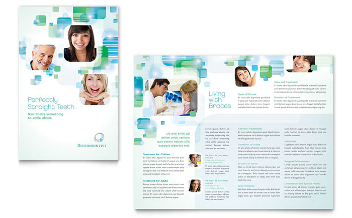 Orthodontist Brochure Template Design