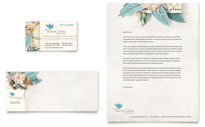 Hospice & Home Care Stationery Design