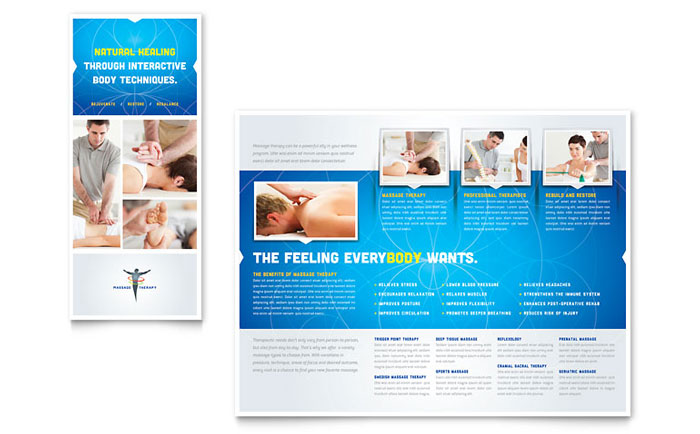 Massage Therapy Tri Fold Brochure Design