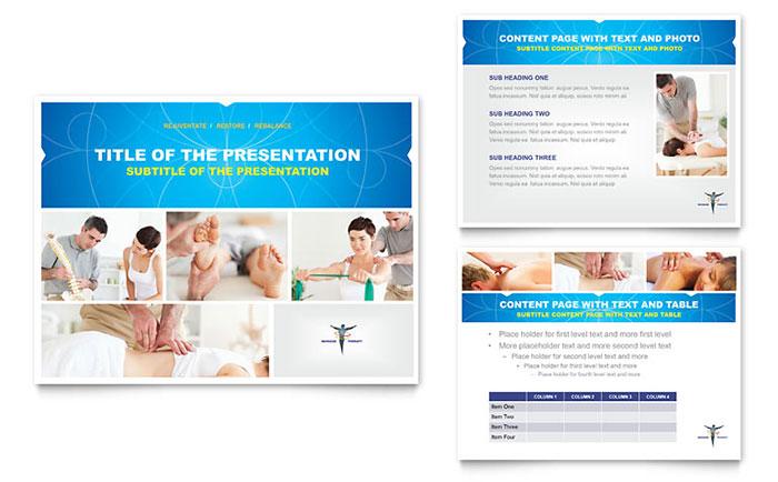 reflexology  u0026 massage powerpoint presentation template design