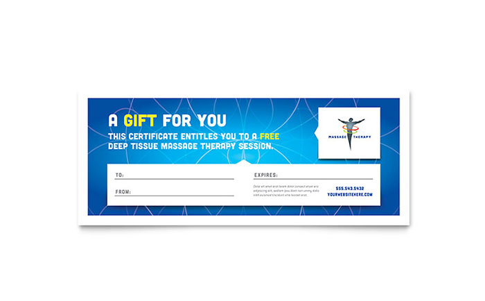reflexology  u0026 massage gift certificate template design