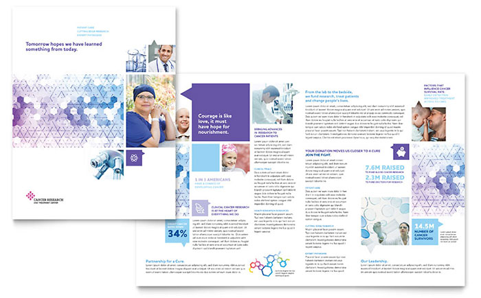 Cancer Treatment Brochure Template Design