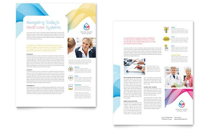 insurance consulting datasheet template design