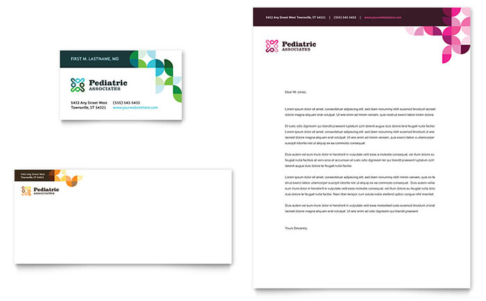 Letterhead Templates InDesign Illustrator Publisher Word – Letterhead Format in Word