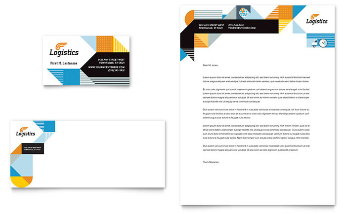 Logistics Amp Warehousing Business Card Amp Letterhead