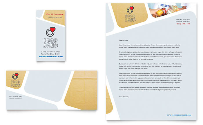 Food Bank Stationery Design