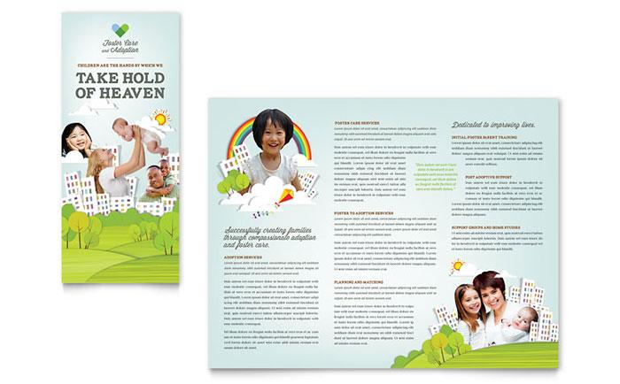 foster care  u0026 adoption brochure template design