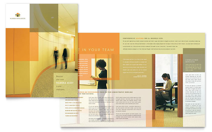 HR Consulting Brochure Template Design