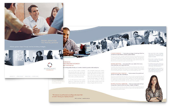 Marketing consulting group brochure template design for Marketing brochure templates free