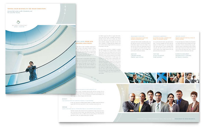 Business consulting brochure template design for Design consultancy