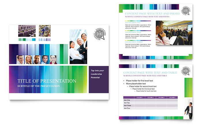 business leadership conference powerpoint presentation template design, Templates
