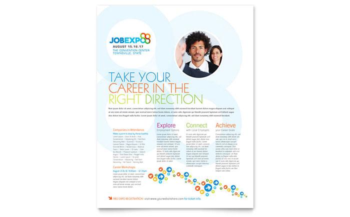 job expo  u0026 career fair flyer template design