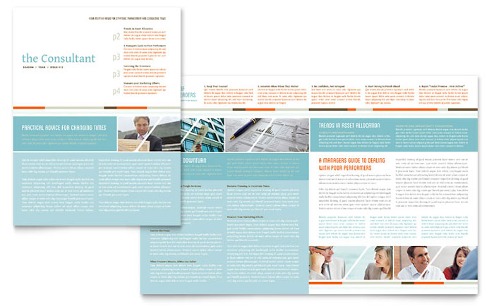 Management Consulting Newsletter Design