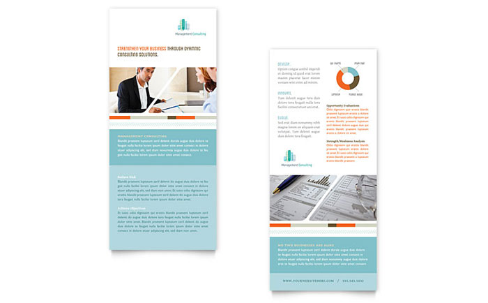 Management Consulting Rack Card Design