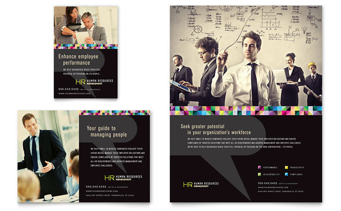 Human Resource Management Flyer Design
