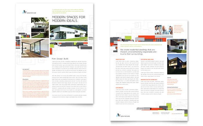 Architecture Design Sales Sheet Templates – Sample Sales Sheet
