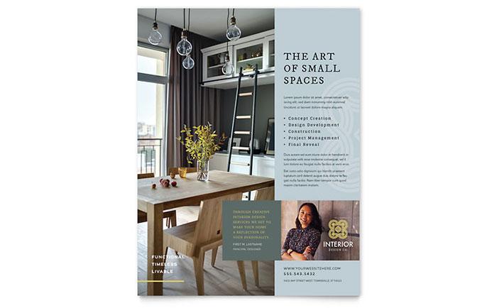 interior design flyer template design