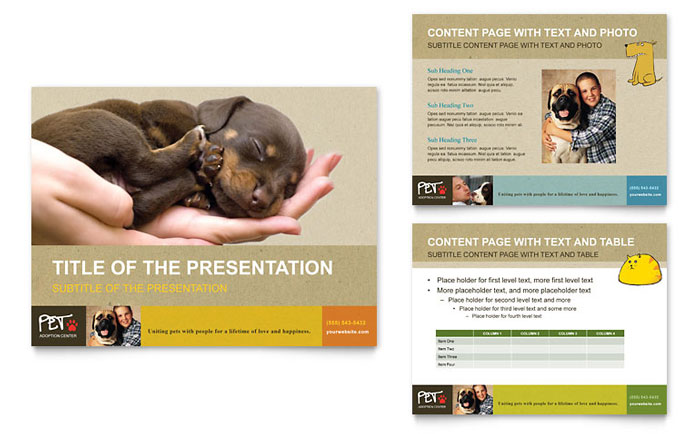 Animal shelter pet adoption powerpoint presentation for Dog adoption flyer template