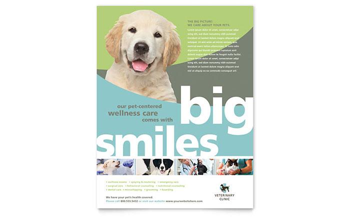 vet clinic flyer template design