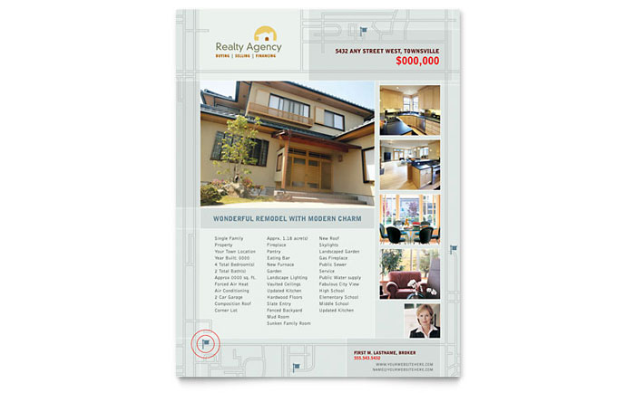 Real Estate Agent & Realtor Flyer Template Design