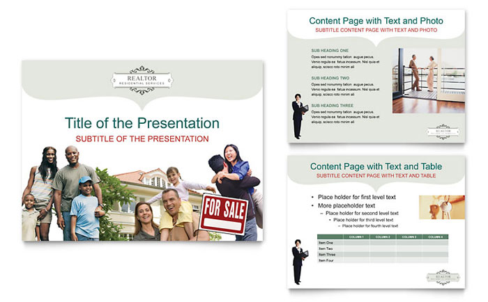 Realtor & Realty Agency PowerPoint Presentation Template Design