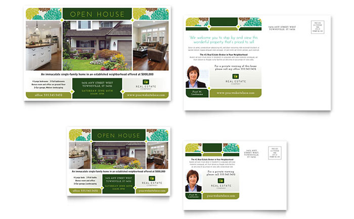 Real Estate Postcard Template Design – Real Estate Marketing Postcard Templates