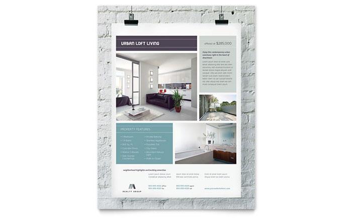 urban loft flyer template design