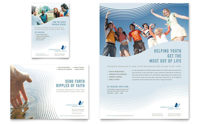 Christian Ministry Flyer & Ad Template Design