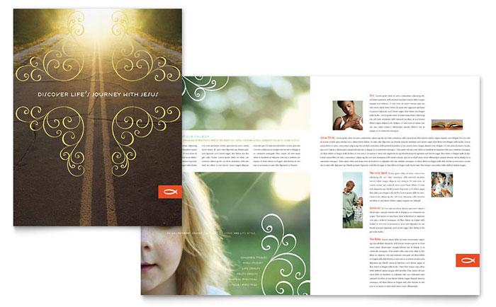 Christian Church Religious Brochure Template Design