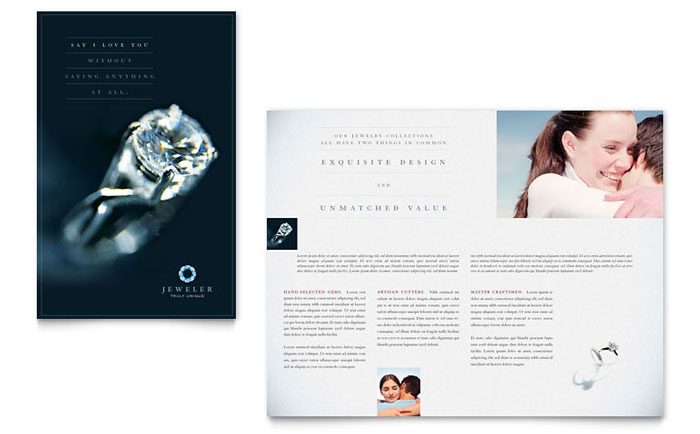 Jeweler & Jewelry Store Flyer & Ad Template Design