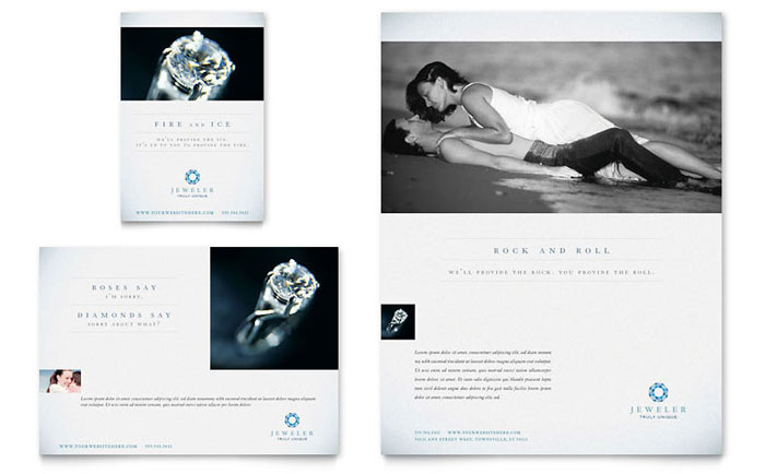 jeweler  u0026 jewelry store flyer  u0026 ad template design