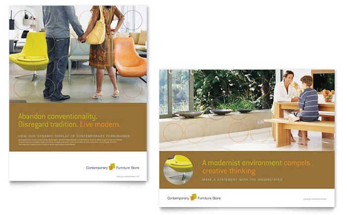 Furniture Store Poster Template Design