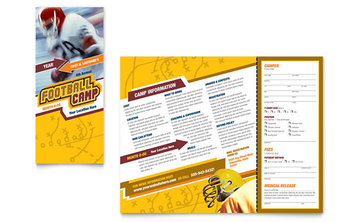 Sports Fitness Brochures – Sports Brochure