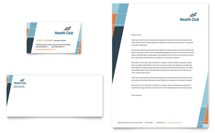 Personal Training | Letterhead Templates | Sports & Fitness
