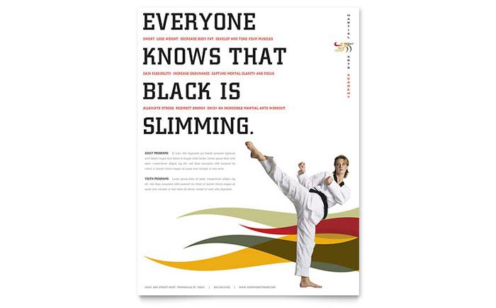 Karate & Martial Arts Flyer Template Design