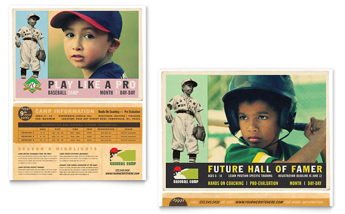 Baseball Sports Camp Poster Template Design