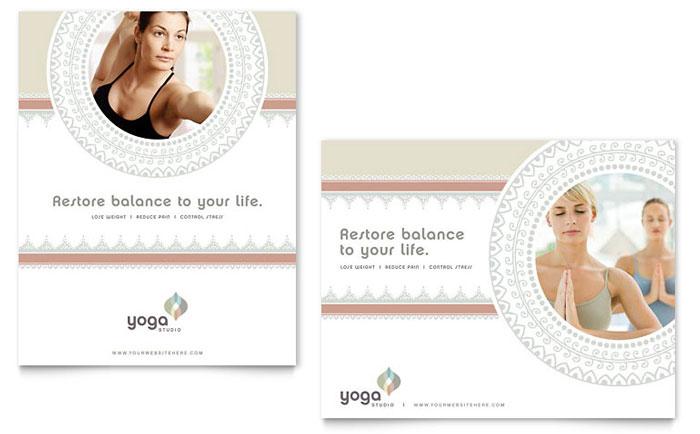 pilates yoga poster template design. Black Bedroom Furniture Sets. Home Design Ideas
